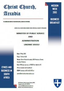 Business breakfast invitation
